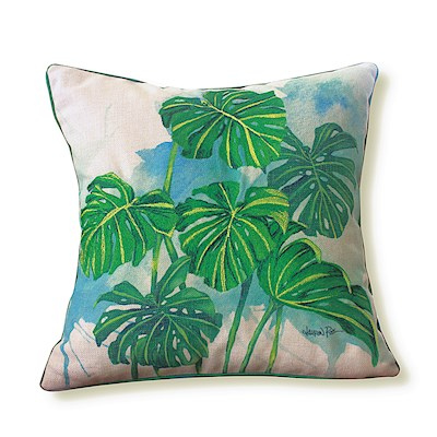 LAUREN ROTH PILLOW EMBROIDERED - MONSTERA GROVE